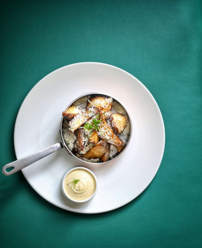 Artichoke Wedges with Truffle Mayo